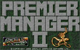 Title screen of Premier Manager 2 on the Atari ST.