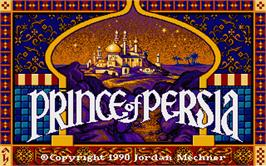 Title screen of Prince of Persia on the Atari ST.