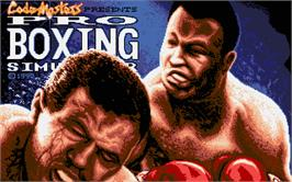 Title screen of Pro Boxing Simulator on the Atari ST.