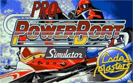 Title screen of Pro Powerboat Simulator on the Atari ST.
