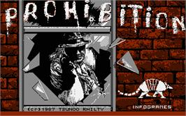 Title screen of Prohibition on the Atari ST.