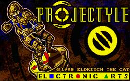 Title screen of Projectyle on the Atari ST.