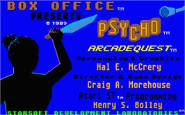 Title screen of Psycho on the Atari ST.