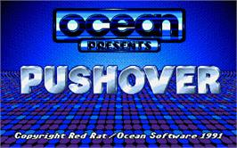 Title screen of Pushover on the Atari ST.