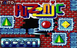 Title screen of Puzznic on the Atari ST.