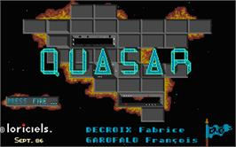 Title screen of Quasar on the Atari ST.