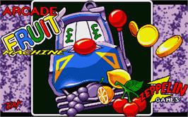 Title screen of Quattro Power Machines on the Atari ST.