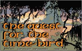 Title screen of Quest for the Time-bird on the Atari ST.