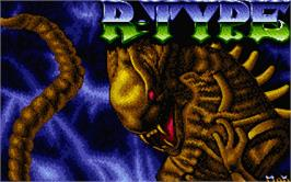 Title screen of R-Type on the Atari ST.