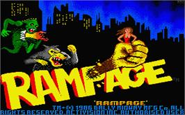 Title screen of Rampage on the Atari ST.