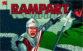 Title screen of Rampart on the Atari ST.