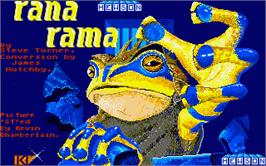 Title screen of Rana Rama on the Atari ST.