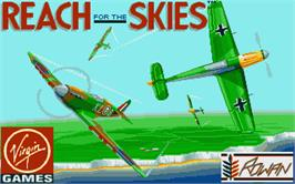 Title screen of Reach for the Skies on the Atari ST.