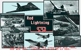 Title screen of Red Lightning on the Atari ST.