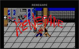 Title screen of Renegade on the Atari ST.
