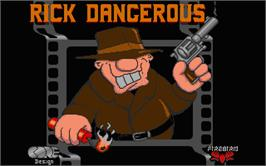 Title screen of Rick Dangerous on the Atari ST.