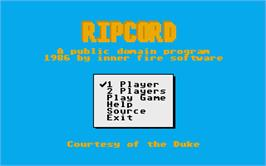 Title screen of Rip Cord on the Atari ST.