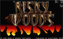 Title screen of Risky Woods on the Atari ST.