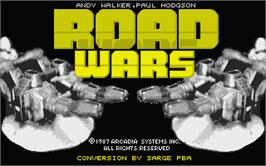 Title screen of RoadWars on the Atari ST.