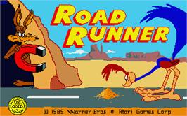Title screen of Road Runner on the Atari ST.