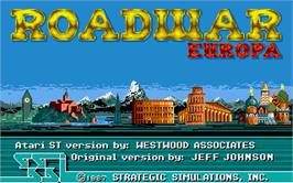 Title screen of Roadwar Europa on the Atari ST.