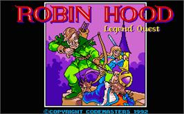 Title screen of Robin Hood: Legend Quest on the Atari ST.