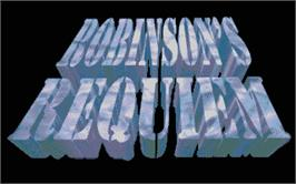 Title screen of Robinson's Requiem on the Atari ST.
