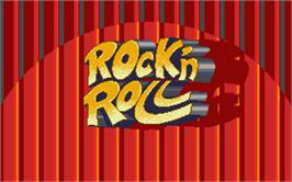Title screen of Rock 'n Roll on the Atari ST.
