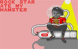 Title screen of Rock Star Ate my Hamster on the Atari ST.