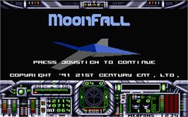 Title screen of Rockfall on the Atari ST.