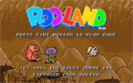 Title screen of Rodland on the Atari ST.