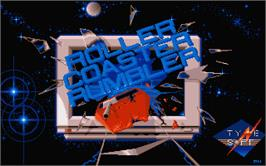 Title screen of Roller Coaster Rumbler on the Atari ST.