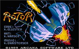 Title screen of Rotor on the Atari ST.