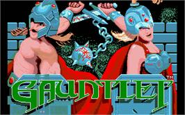Title screen of Run the Gauntlet on the Atari ST.