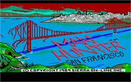 Title screen of STAR Scenery Disk: San Francisco Area on the Atari ST.