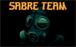 Title screen of Sabre Team on the Atari ST.