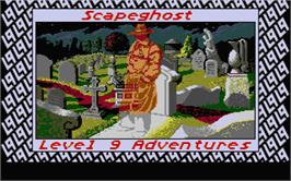 Title screen of Scapeghost on the Atari ST.