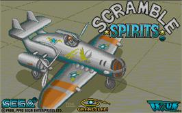 Title screen of Scramble Spirits on the Atari ST.