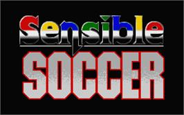 Title screen of Sensible Soccer: European Champions: 92/93 Edition on the Atari ST.