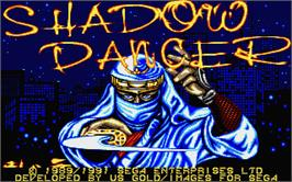 Title screen of Shadow Dancer on the Atari ST.