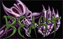 Title screen of Shadow of the Beast on the Atari ST.