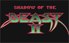 Title screen of Shadow of the Beast 2 on the Atari ST.