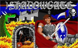 Title screen of Shadowgate on the Atari ST.