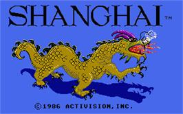 Title screen of Shanghai on the Atari ST.