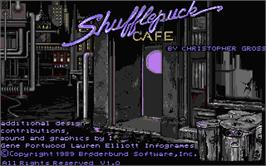 Title screen of Shufflepuck Cafe on the Atari ST.