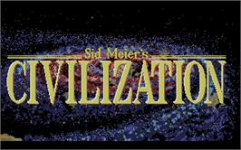 Title screen of Sid Meier's Civilization on the Atari ST.