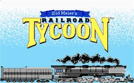 Title screen of Sid Meier's Railroad Tycoon on the Atari ST.