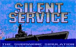 Title screen of Silent Service on the Atari ST.