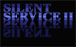 Title screen of Silent Service 2 on the Atari ST.