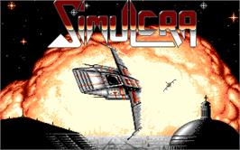 Title screen of Simulcra on the Atari ST.